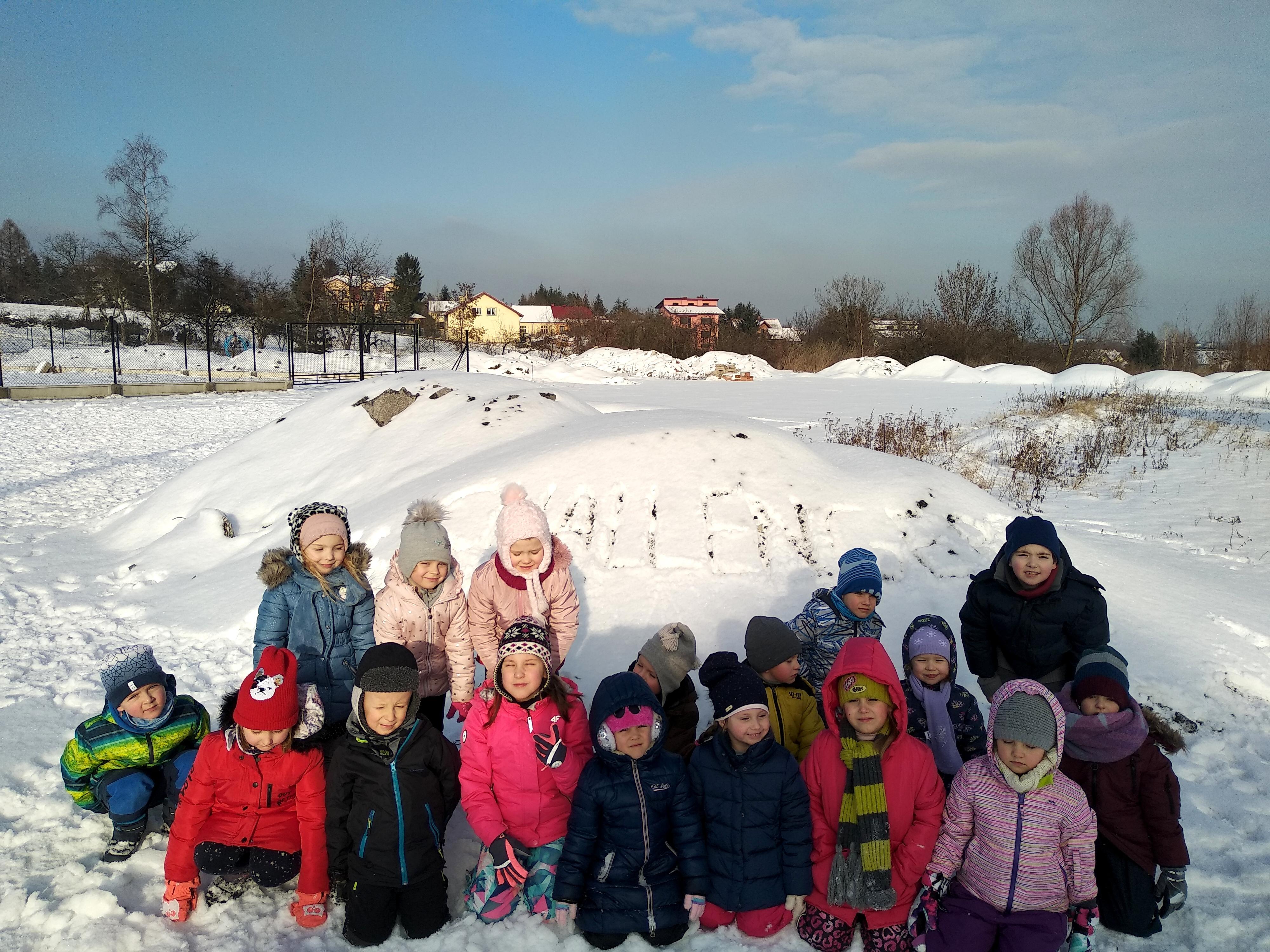 Uroki zimy w naszym przedszkolu w Wieliczce -Tomaszkowicach